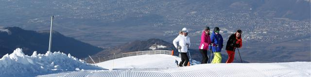 Les 7 Laux : la vue sur la vallée du Grésivaudan et Grenoble est imprenable