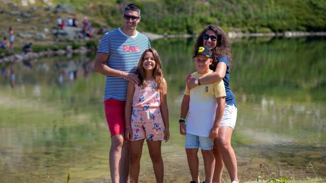 famille 7 Laux en été