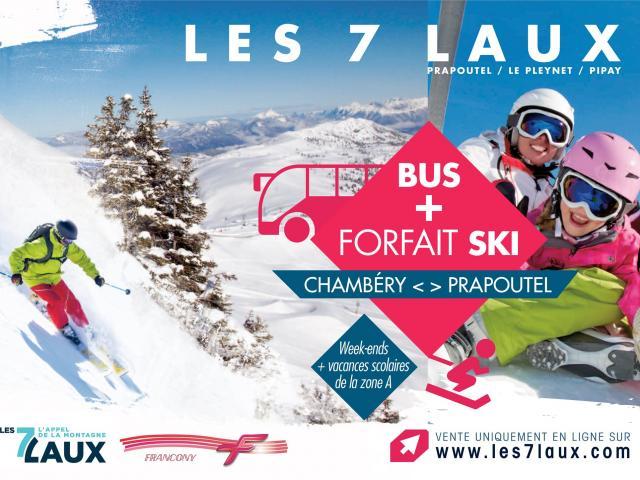 Bus + forfait de ski Les 7 Laux