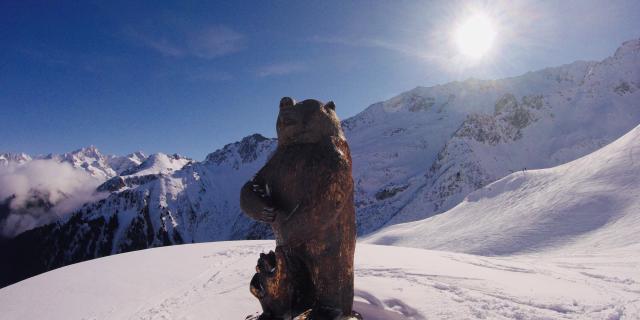 L'Ours des 7 Laux en hiver