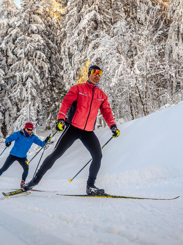 Ski de fond aux 7 laux durant les vacances de février
