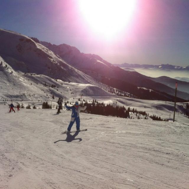 Notre ambassadrice Marion en Snowboard aux 7 Laux