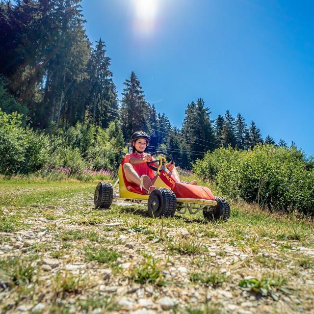 Deval'Kart aux 7 Laux en été