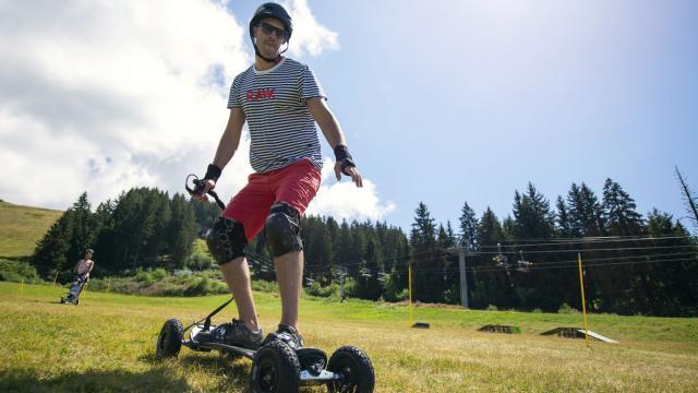 moutainboard aux 7 Laux en été