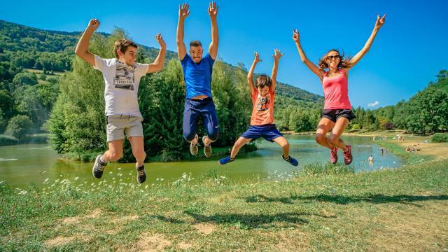 Famille Lac de La Mirande