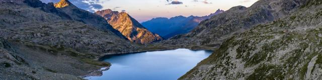 lac des 7 Laux en fin de journée