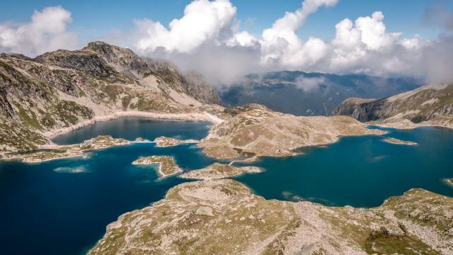 lacs des 7 Laux en été