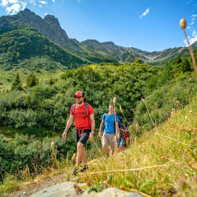 randonnée aux 7 Laux en montagne