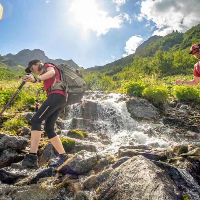 randonnee en montagne aux 7 Laux