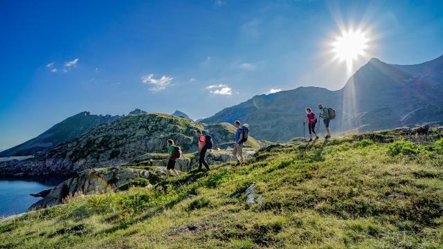 randonnée en montagne dans le Massif de Belledonne