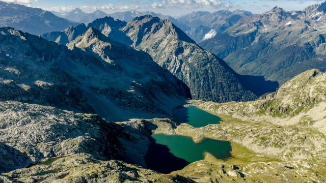 lacs des 7 Laux vus du ciel