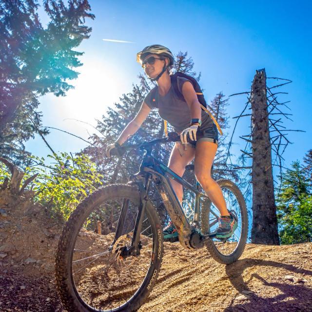 Vélo à assistance électrique en montagne