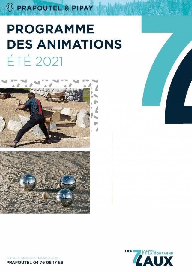 Programme d'animations hébdomadaires Prapoutel / Pipay