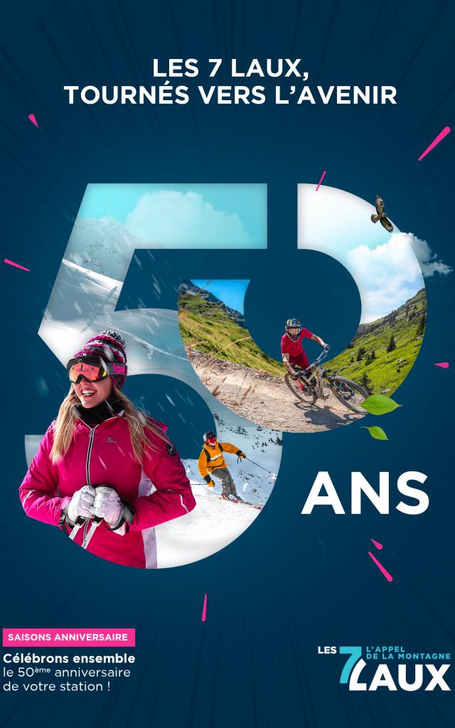 Affiche anniversaire 50 ans Les 7 Laux