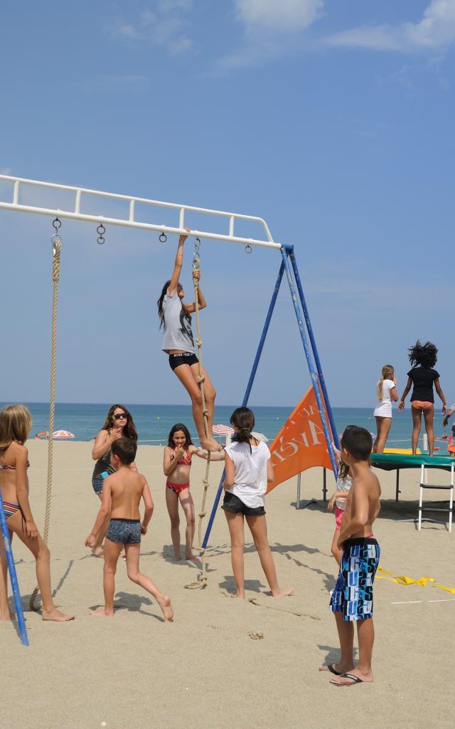 Jeux de plage enfant Leucate Plage