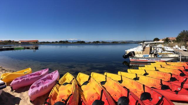 Ile Aux Loisirs Leucate Etang Canoe