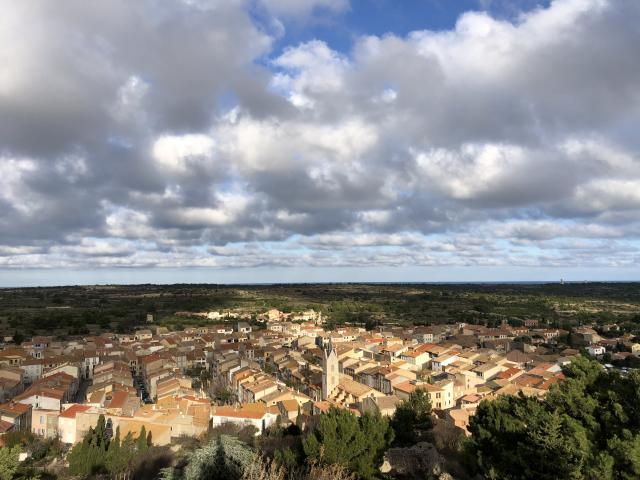 Leucate Village vue du Château