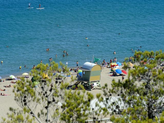 Photo de Leucate Plage depuis la falaise