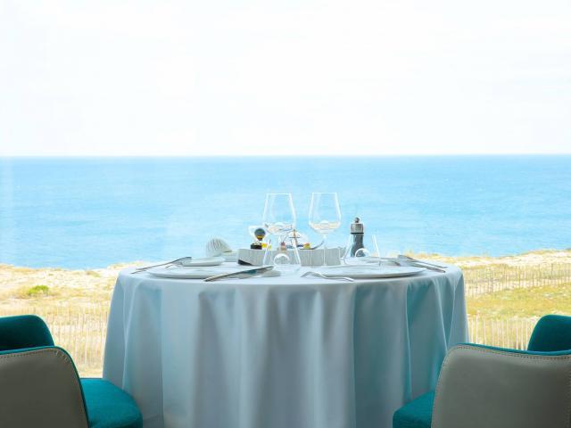 Photo d'une table avec Vue sur mer au restaurant Le Grand Cap Leucate