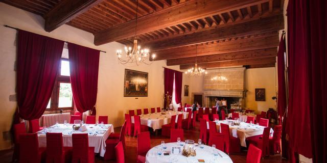 Hotel et restaurant du chateau des ducs de Joyeuse à Couiza, Aude (près de Limoux / Carcassonne )
