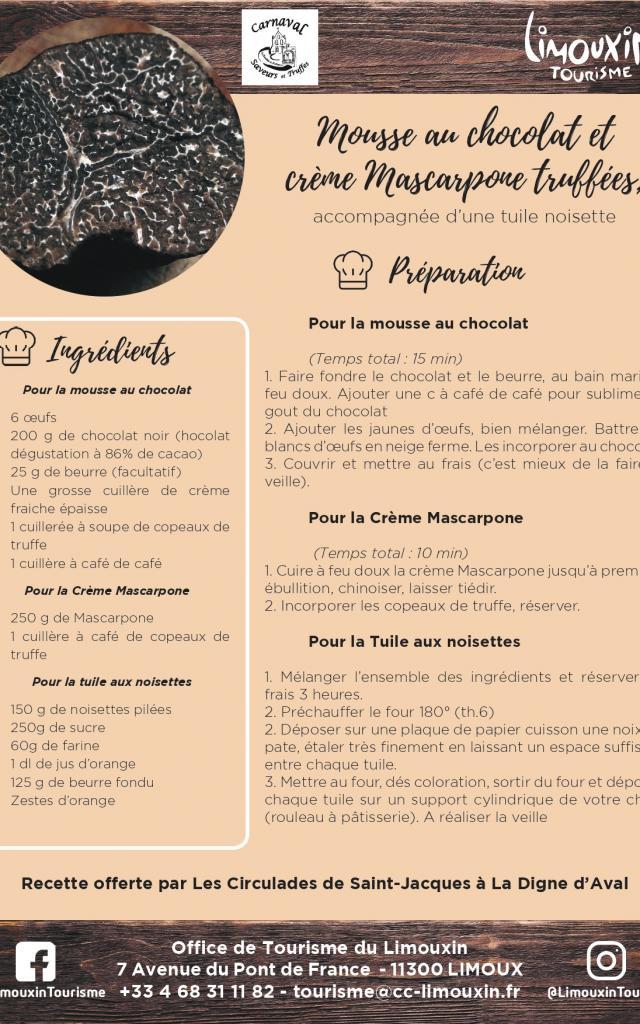 Ot Du Limouxin Fiche Recette Mousse Au Chocolat Truffée 2019