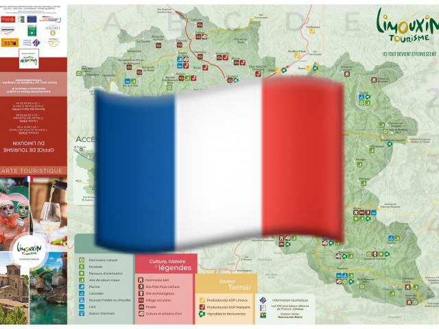 Carte touristique en français