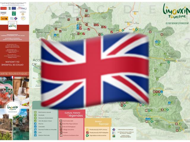 Carte touristique en anglais