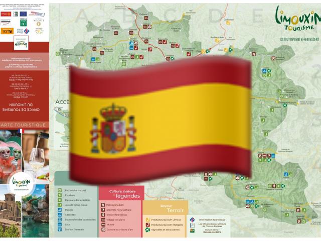 Carte touristique en espagnol