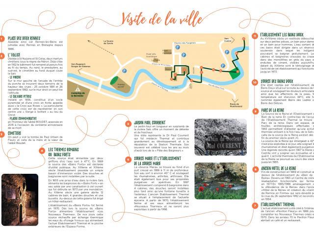Pérégrination Plan Du Village Rennes Les Bains 2021 Page 0001