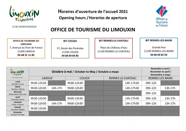 Ot Limouxin Horaires 2021 Dont Rlc Page 0001