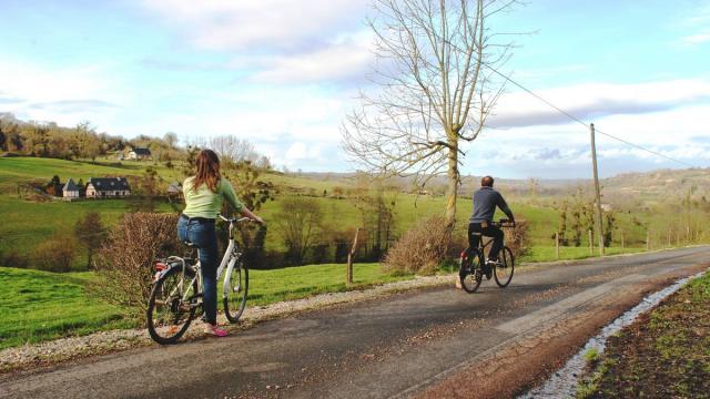 Balade vélo à travers le Pays d'Auge