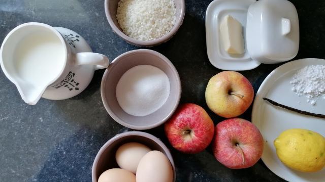 Riz Au Lait Meringué Aux Pommes Les Ingrédients ©d Coudray