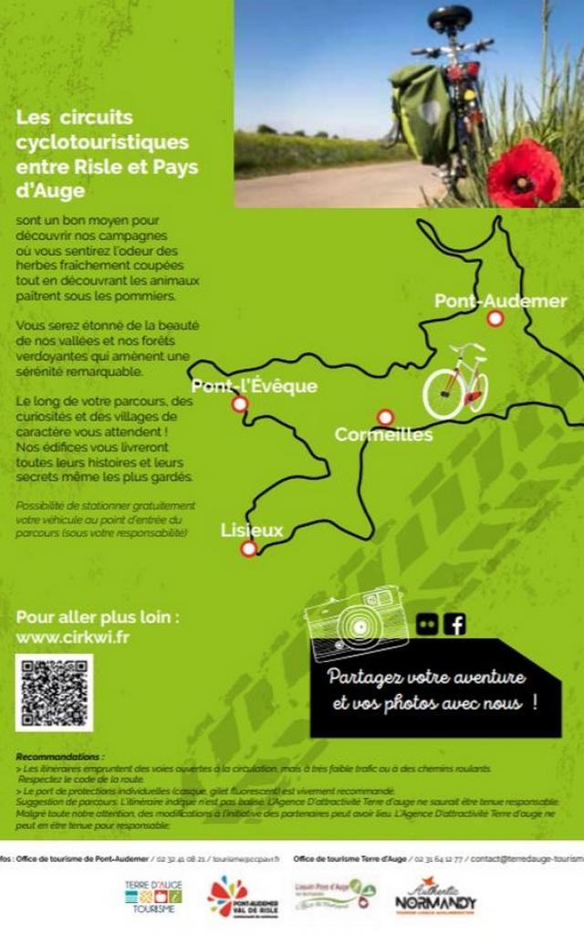 Parcours Cyclotourisme Entre Risle Et Pays D'auge Authentic Normandy Verso