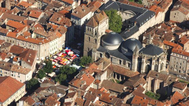 Vue aérienne de la Cathédrale Saint-Etienne