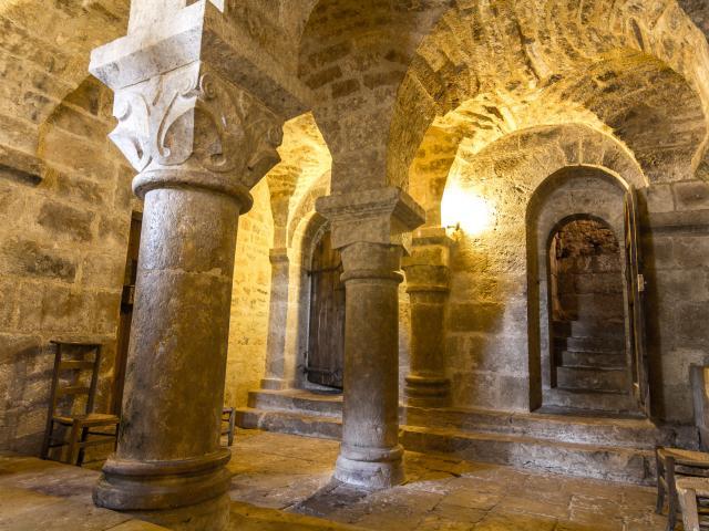 Crypte de l'église de Caniac-du-Causse