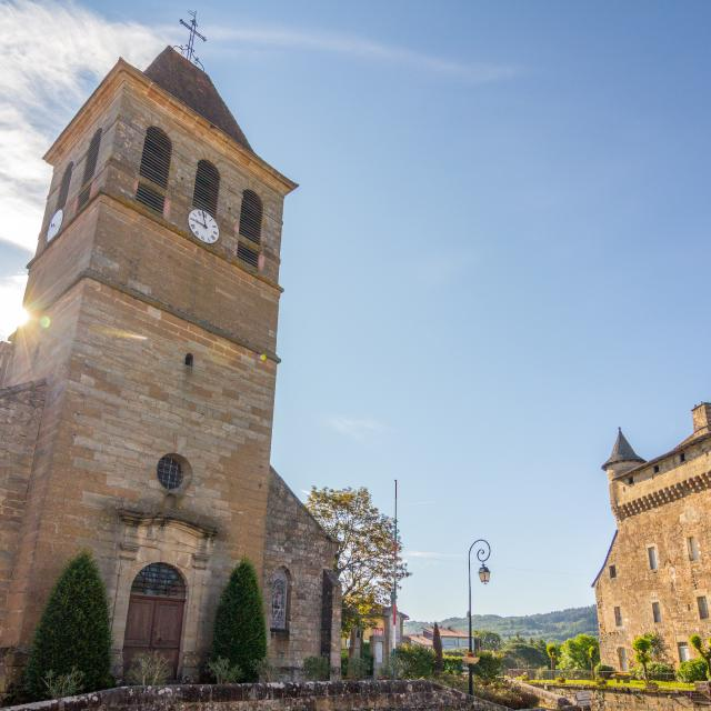 Eglise et château de Lacapelle-Marival