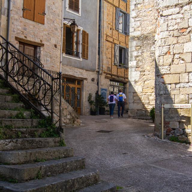 Accès aux vieux quartiers de Cajarc