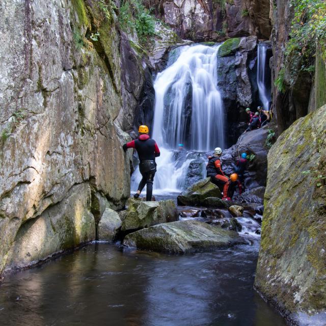 Canyoning à la cascade du Saut Grand