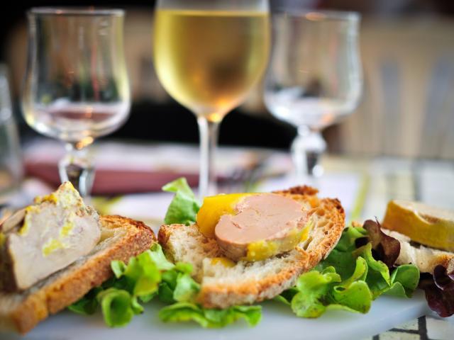 Délice de foie gras sur toast