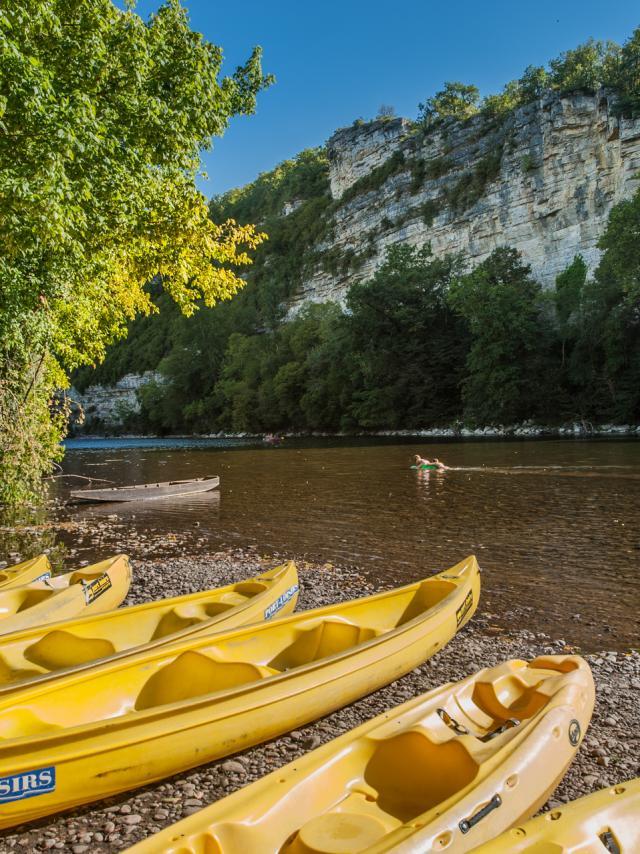 Départ canoë sur la Dordogne - Port Loisirs à Creysse