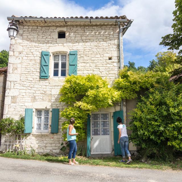 Façade de maison à Saint-Pantaléon