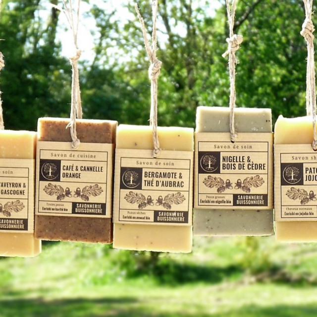 Gamme de savons Savonnerie Buissonnière
