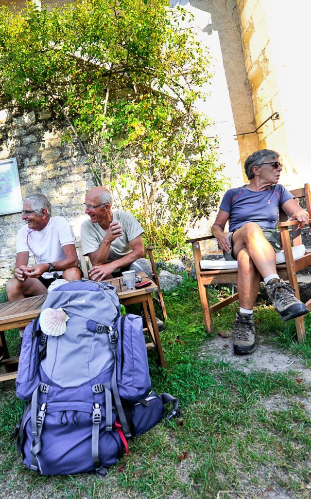 Halte sur le chemin de St Jacques, gîte d'étape Le Nid des Anges, Lascabanes