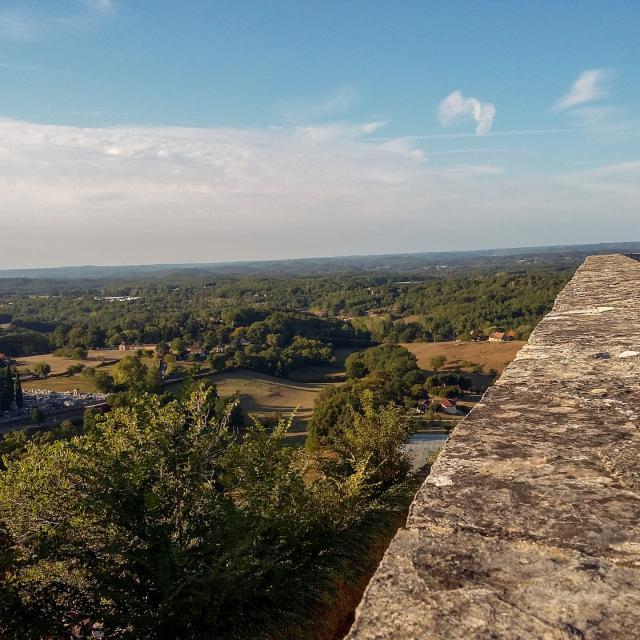 La Bouriane vue depuis le point de vue de Gourdon
