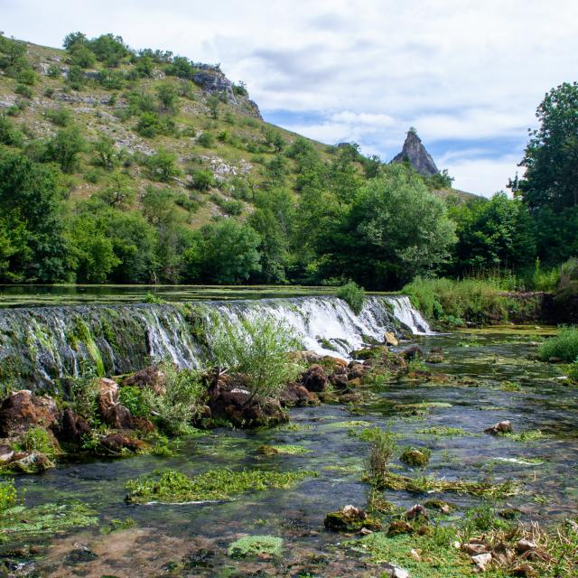 L'Ouysse depuis le Moulin de Cougnaguet