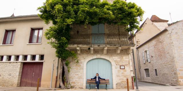 Maison dans le bourg de St-Vincent-Rive-d'Olt
