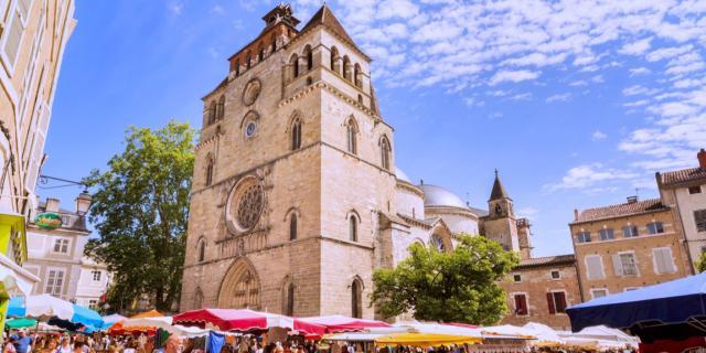 Marché coloré de Cahors