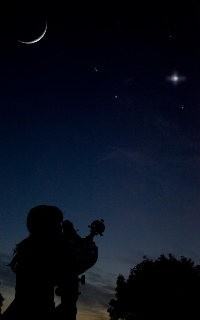 Observation du ciel la nuit