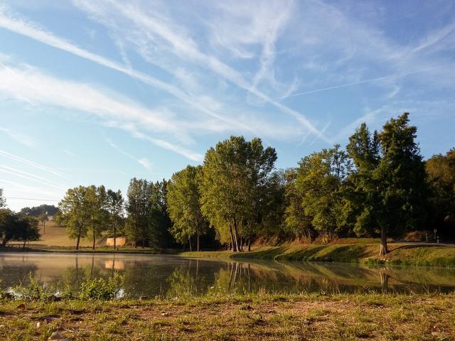Plan d'eau de pêche à Gourdon