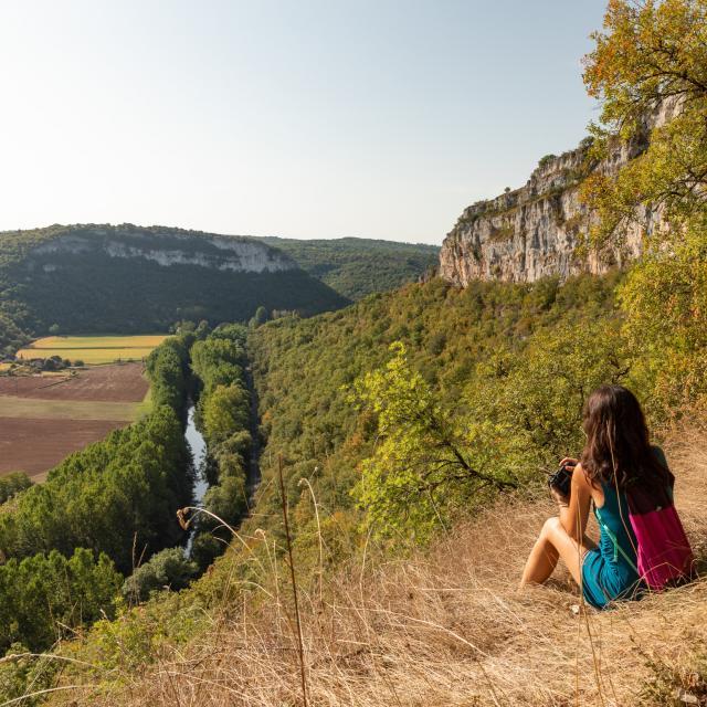 Point de vue sur la vallée du Célé